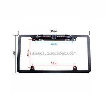 Auto Backup Reverse Camera Nummerplaat Frame Camera Voor USA Cars