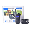 1-100 levels shock vibration beep LED light modes two channels with waterproof TUP belt dog yard trainer