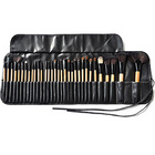 Sialia Professional Private Label 32 Pieces Brochas Maquillaje MakeUp Brush Set With Cosmetic Makeup Bag