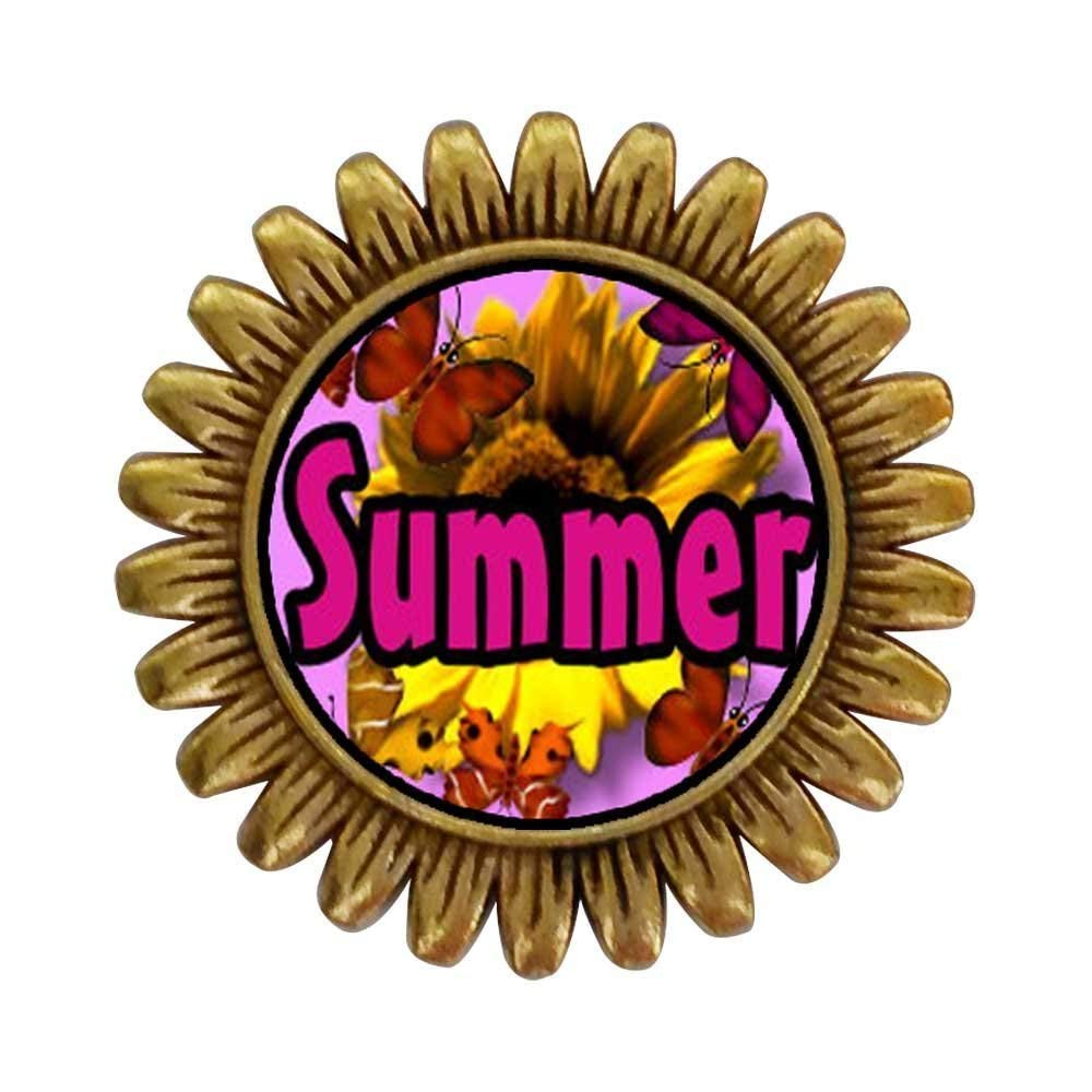 GiftJewelryShop Ancient Style Gold-plated Summer butterfly sunFlower Sunflower Pins Brooch