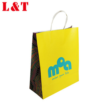 Simple portable food paper packing bag