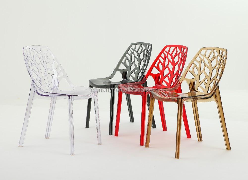 Design moderne chaise en plastique cristal acrylique for Chaise de salle a manger hemisphere sud