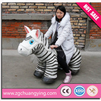 shopping mall coin operated walking animal horse ride on toy