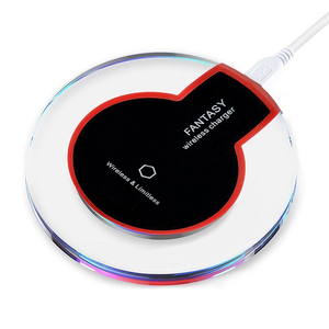 New Phone Fast Wireless Charging For Samsung S9 S8 Led Light Charger For Iphone X Wireless Charger