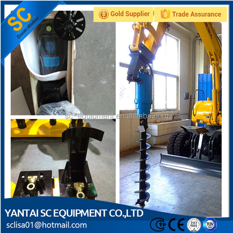 Hydraulic Rotary Head /Earth Auger For Skid Steer Loader The DH360 For Tree Planting