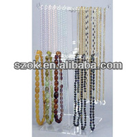 acrylic tabletop hanging necklaces jewelry display stand