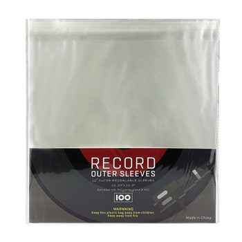 Crystal no wrinkle vinyl record outer sleeves for turntable player