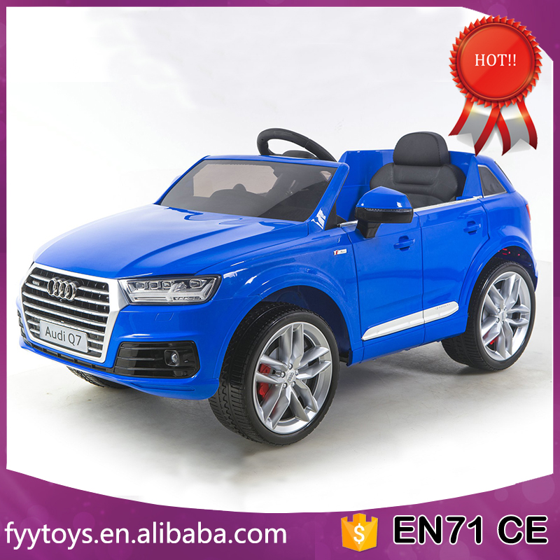 Cool design Audi Q7 children Licensed ride on car with leather seat Foam wheels ride on TOY CAR
