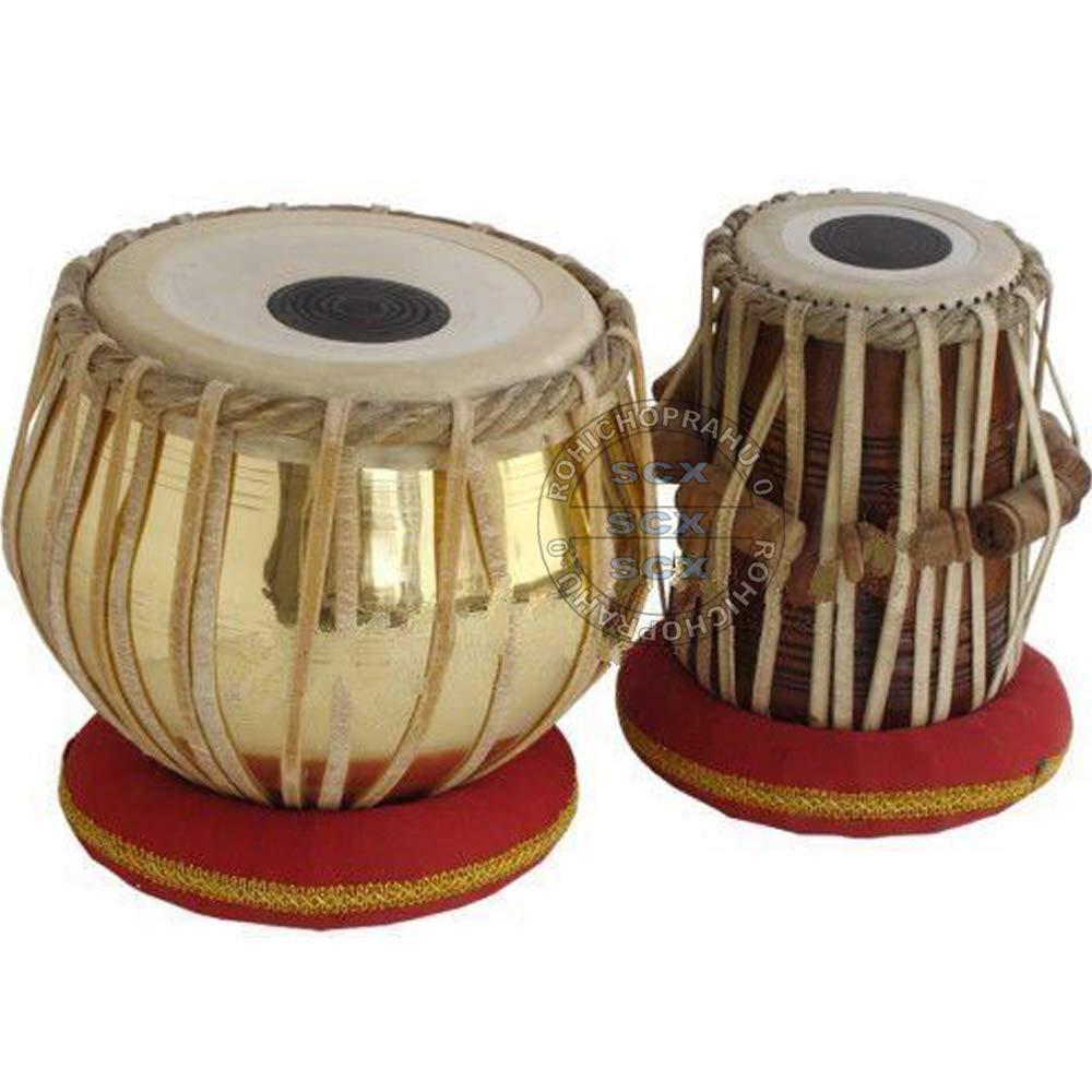 Sheesham Dayan Tabla Hammer Cushions Book Golden Brass Bayan 3Kg Tabla Indian Drums Nylon Bag PDI-CH Tabla Set by SAI Musicals Cover