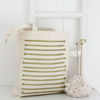 Durable Metallic Knitting Needles Tote Bag Cotton Tote