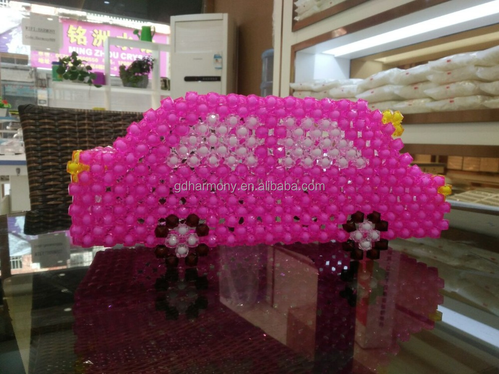 Beaded Car tissue box DIY Handmade A lot of color intelligence Material package