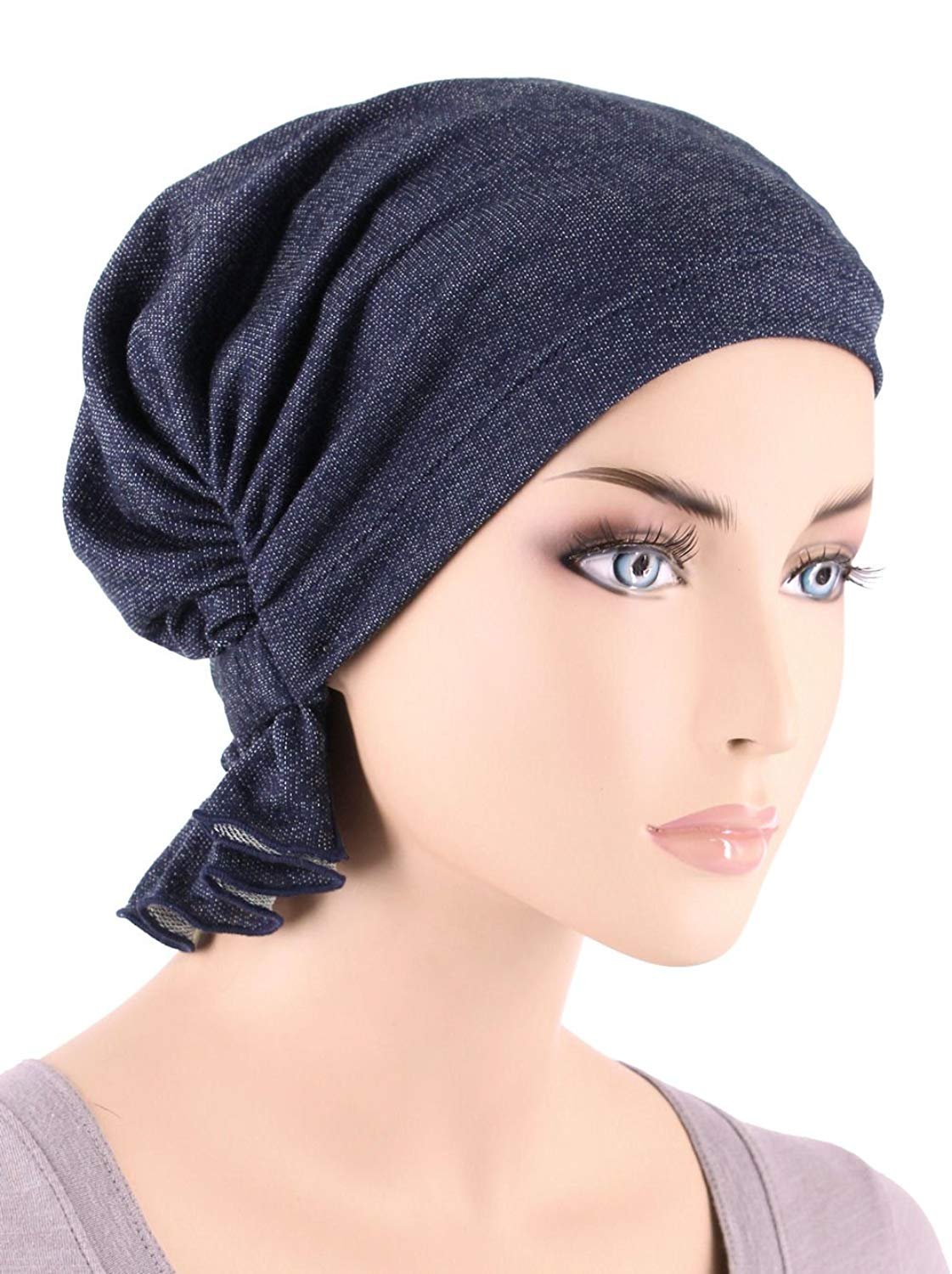 ff8e1d01aed Turban Plus The Abbey Cap in Cotton Knit Chemo Caps Cancer Hats for Women