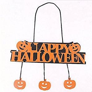 JCare Halloween Decoration HAPPY HALLOWEEN Hanging Hangtag Halloween Window Decoration Halloween Pumpkin Hanging Strips