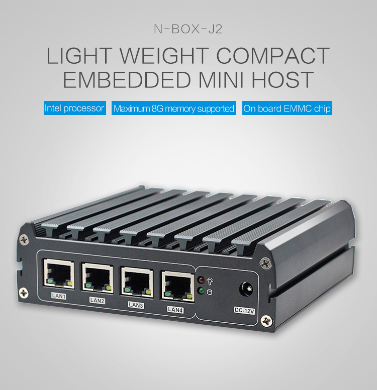 Fanless Industrial 4 Ethernet Ports Pc Mini J1900 Processor 4* I211 Lan  Thin Client Pc N-box-j2 - Buy 4 Ethernet Ports Mini Pc,Mini Pc 4 Lan,Pc  Mini