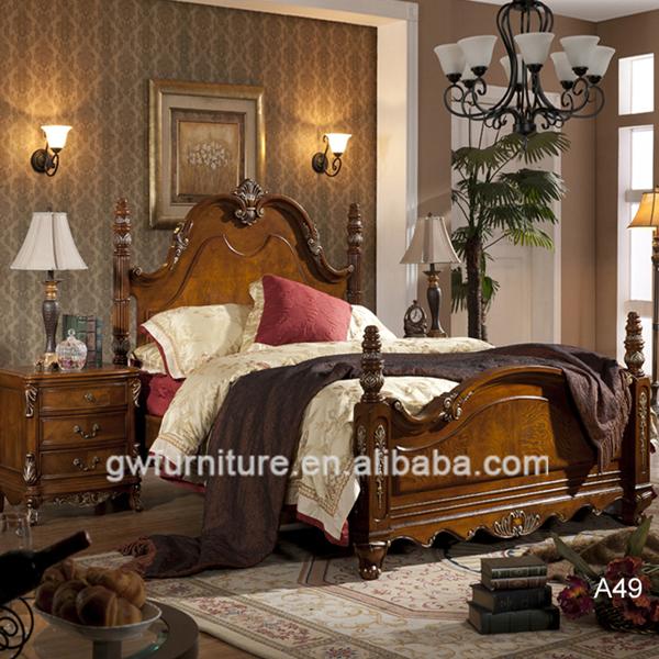 Classique En Bois Massif Pas Cher Chambre Meubles Lit King A49 Buy