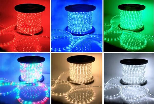 36LED 2 wire round battery powered led rope light