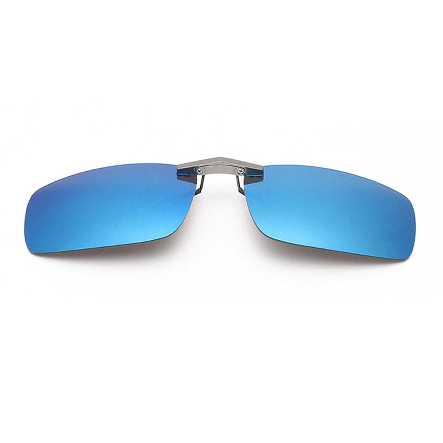 45b8d0f72c Get Quotations · Tacloft Unisex Rectangle 57mm Polarized Clip on Sunglasses  CLIPON2015 Perfect for Driving