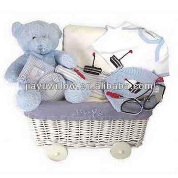 Rieten Jongen Baby Cadeau Mand Buy Baby Mandbaby Cadeau Manddecoratieve Rieten Manden Voor Baby Product On Alibabacom