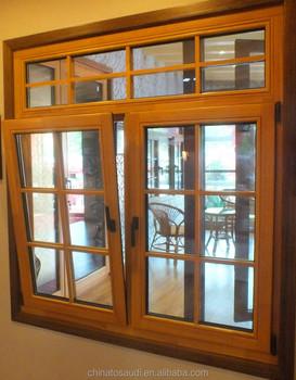 Latest low e wooden window design oak wood window design for Wood window design image