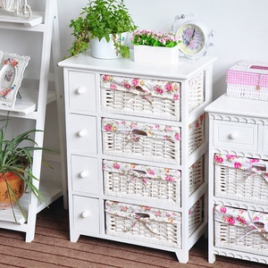 wholesaler cabinet with drawers and willow baskets wooden furniture designs