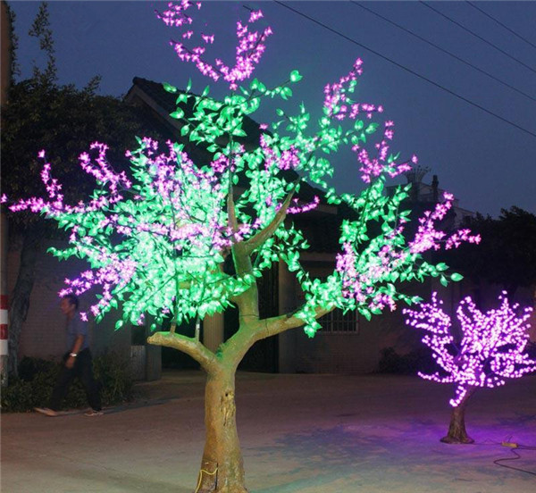 Artificial Flower Outdoor Lights Led Tree Wood Frame Christmas New ...