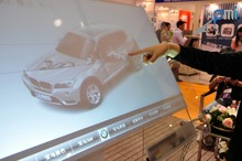 50 inch 6 points transparent Interactive Touch Foil Film Flexible touch foil film can be laminated