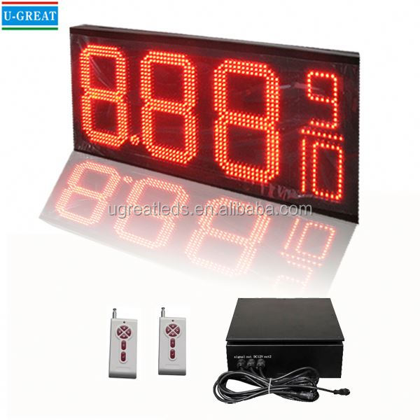 Alibaba.com in russian RF big size IP65 digital signage outdoor 7 segment led display 3 digits