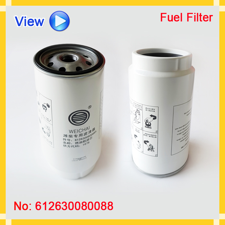Customized Professional auto parts truck fuel filter