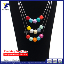 2016 hot sale ellipse beads necklace new style silicone jewelry chain necklace