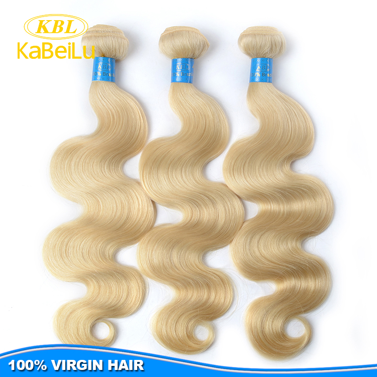 KBL Charming hair products,100%virgin 613 blonde human hair, wholesale 613 raw virgin indian blonde remy wavy hair