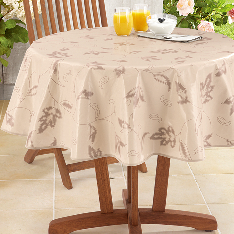 PEVA table cloth cutwork embroidered square linen with nonwoven factory