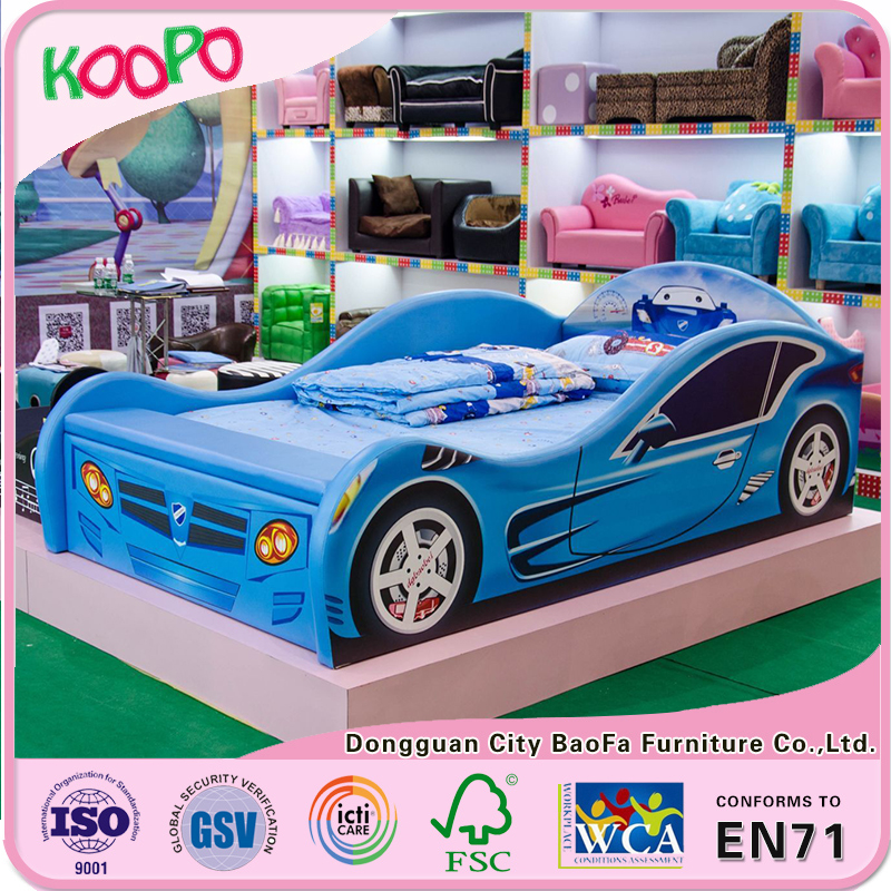 Hot selling Racing Car shape children bed