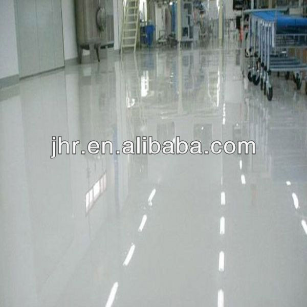 Clear epoxy resin floor