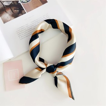 Square hair tie band lady dress kerchief wholesale fashion elegant square multi silk for women scarf