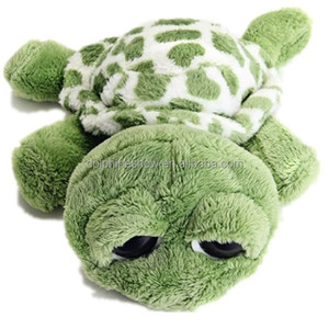 Cheap promotion green turtle plush toy stuffed toy soft plush big eyes turtle