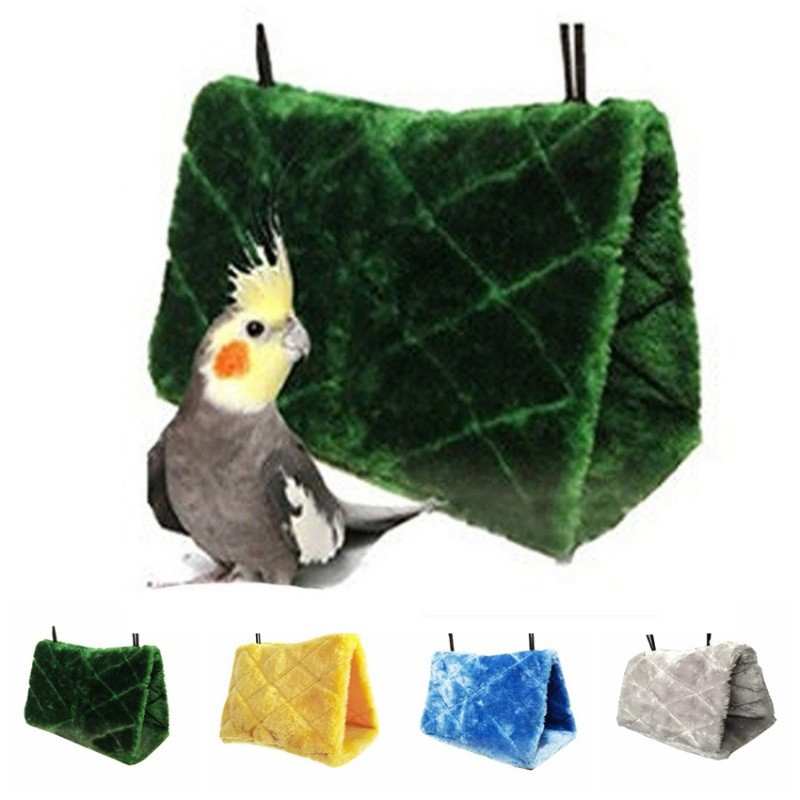 Double Layer Bird Hammock Hanging Cave Cage Snug Hut Tent Bed Bird Parrot Conure Toy Parrot Hammock Numerous In Variety Pet Products Bird Supplies