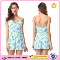 Women Clothing Factory Direct Wholesale Romper Floral Printed Playsuit