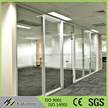 Good Quality Cheap Office Partition Aluminum Partition Wall Frameless Used Office  Wall Partitions