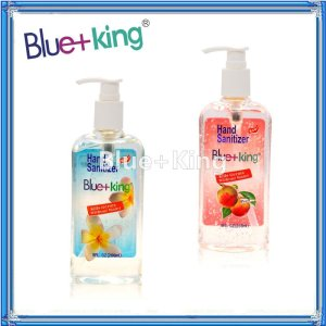 Blue-King Alcohol Liquid Soap Hand Sanitizer Gel Pump-266ml.-Peach&Original,