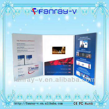 "High quality 4.3""TFT lcd screen video greeting cards brochure"