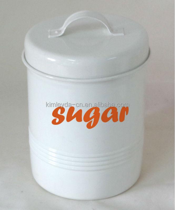 Favorite Tea Coffee Sugar Canisters White, Tea Coffee Sugar Canisters White  AW27