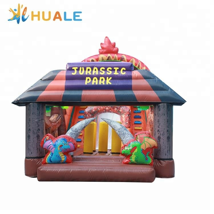 Hot sale inflatable bouncy castle with slide