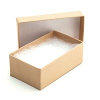 Kraft Cotton Filled Packaging Box For Jewelry