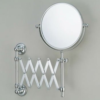 Wall Mounted Mirror Mirrors Extended Make Up Cosmetic Round Br Chrome Plated Bathroom