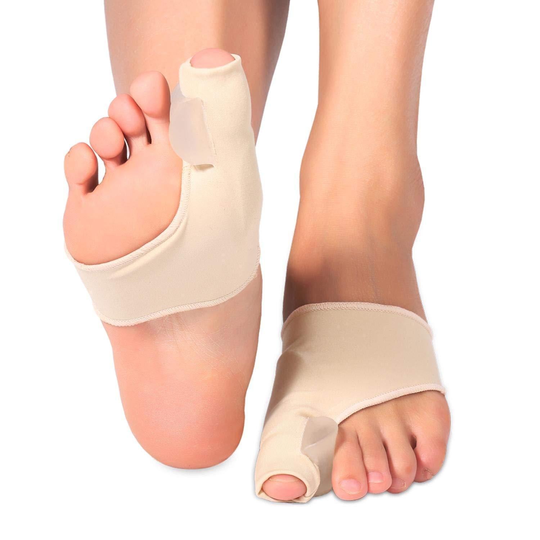 Keenso 2pcs Bunion Splint, Big Toe Bunion Corrector Bunion Relief Adjustable Bunion Brace, Bunion Splints Women & Men- Day/Night Time Support