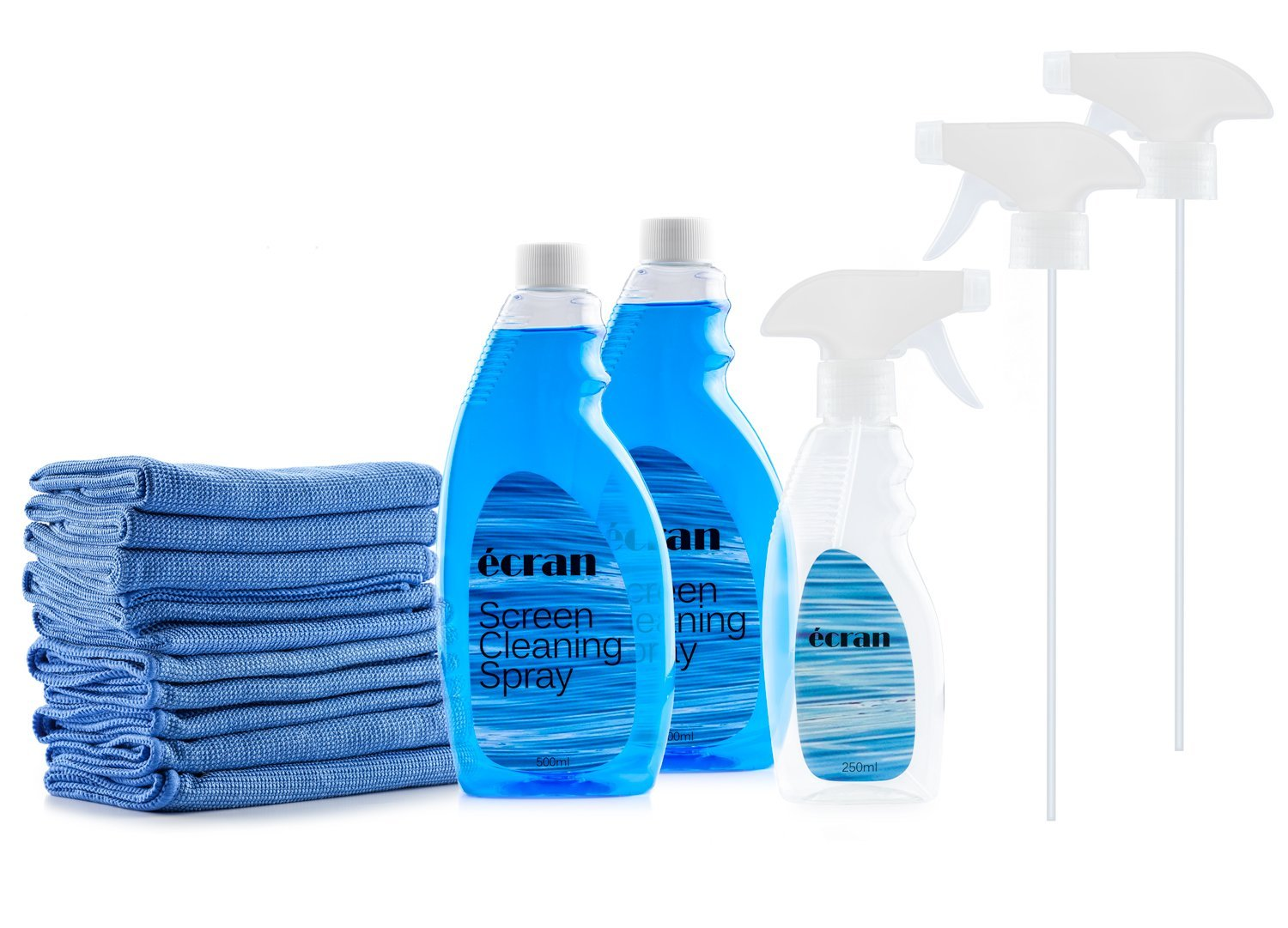 """Ecran Screen Cleaning Kit with 2 Bottles of Screen Cleaning Spray 16.9 oz 