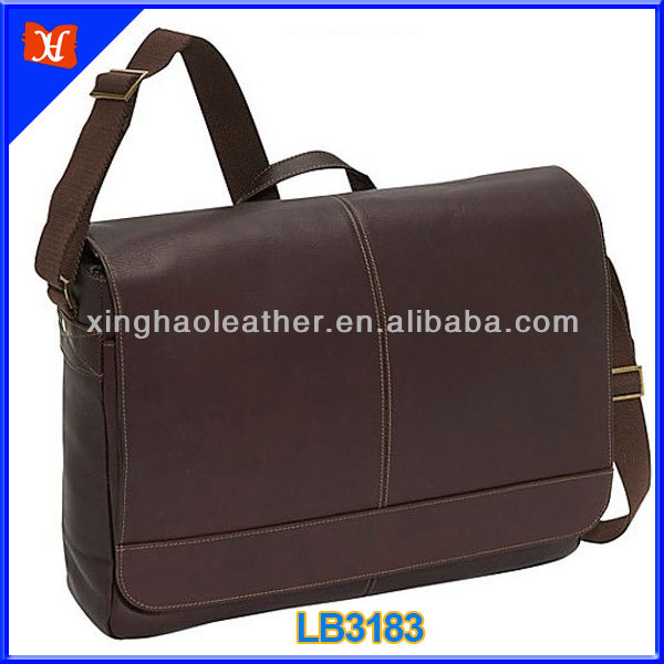 Smooth Leather Laptop Bag For Business Leather Messenger Bag ...