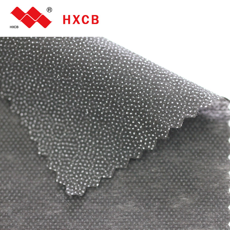 100% polyester Stitch-bond nonwoven Fusible Garment Double Dot Interlining Fabric(6090w)