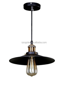 Led Lamp For The House Patriot Lighting Black Iron Shade Hanging Pendant Light American Type