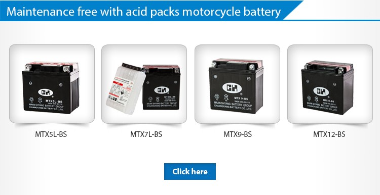 High Quality Lead Acid Battery Plante Motorcycle Battery